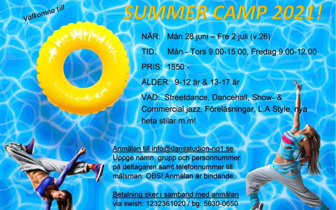 Dansstudion No1 har glädjen att även i sommar presentera ett nytt DANCE CAMP